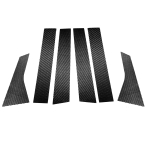 6 in 1 Car Carbon Fiber B-pillar Decorative Sticker for Honda 10th Generation Accord 2018-2021, Left and Right Drive Universal