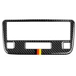 Car Carbon Fiber German Color CD Panel Decorative Sticker for Mercedes-Benz Traje Para GLK X204 300, 260, 350, 250, 220, 2013-2015, Left and Right Drive Universal