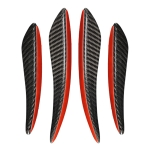 Universal Car Carbon Fiber Wind Knife Decorative Sticker, Left and Right Drive Universal