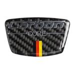 Car Carbon Fiber German Color Doorpost Decorative Sticker for Mercedes-Benz, Left and Right Drive Universal