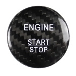 Car Carbon Fiber Solid Color One-click Start Button Decorative Sticker for Mercedes-Benz Left and Right Drive Universal