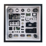 Non-Working Display 3D Mechanical Film Camera Square Photo Frame Mounting Disassemble Specimen Frame, Model: Style 1, Random Camera Model Delivery