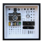 Non-Working Display 3D Mechanical Film Camera Square Photo Frame Mounting Disassemble Specimen Frame, Model: Style 2, Random Camera Model Delivery