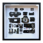 Non-Working Display 3D Mechanical Film Camera Square Photo Frame Mounting Disassemble Specimen Frame, Model: Style 3, Random Camera Model Delivery