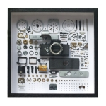 Non-Working Display 3D Mechanical Film Camera Square Photo Frame Mounting Disassemble Specimen Frame, Model: Style 5, Random Camera Model Delivery