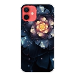 Shockproof Painted Transparent TPU Protective Case For iPhone 12 mini(Snow Lotus)