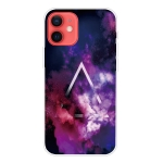 Shockproof Painted Transparent TPU Protective Case For iPhone 12 / 12 Pro(Triangle Starry Sky)