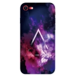 Shockproof Painted Transparent TPU Protective Case For iPhone SE 2020(Triangle Starry Sky)