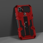 For Motorola Moto One 5G Ace Vanguard Warrior All Inclusive Double-color Shockproof TPU + PC Protective Case with Holder(Red)