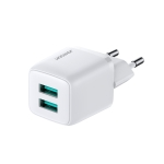 JOYROOM L-2A121 12W Mini Dual USB Port Intelligent Fast Charger, Plug Type: EU Plug(White)