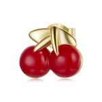 S925 Sterling Silver Cherry Women Earrings