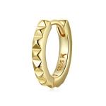 S925 Sterling Silver Golden Gearwheel Women Earrings