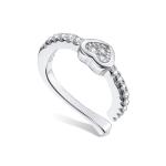 S925 Sterling Silver Silver Heart Ear Clip Women Earrings