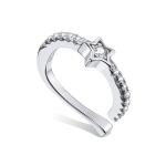 S925 Sterling Silver Silver Five-pointed Star Ear Clip Women Earrings