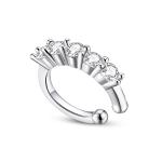 S925 Sterling Silver Silver Shiny Ear Clip Women Earrings