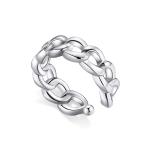 S925 Sterling Silver Silver Chain Ear Clip Women Earrings