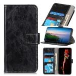 For Motorola Moto Edge S Retro Crazy Horse Texture Horizontal Flip Leather Case with Holder & Card Slots & Photo Frame & Wallet(Black)