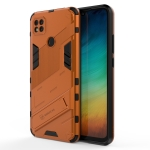 For Xiaomi Redmi 9C Punk Armor 2 in 1 PC + TPU Shockproof Case with Invisible Holder (Orange)