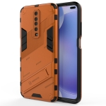For Xiaomi Redmi K30 Punk Armor 2 in 1 PC + TPU Shockproof Case with Invisible Holder (Orange)
