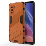 For Xiaomi Redmi K40 / K40 Pro Punk Armor 2 in 1 PC + TPU Shockproof Case with Invisible Holder (Orange)