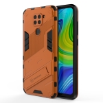 For Xiaomi Redmi Note 9 Pro 5G Punk Armor 2 in 1 PC + TPU Shockproof Case with Invisible Holder (Orange)