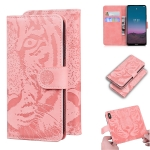 For Nokia 5.4 Tiger Embossing Pattern Horizontal Flip Leather Case with Holder & Card Slots & Wallet(Pink)