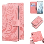 For Xiaomi Mi 11 Tiger Embossing Pattern Horizontal Flip Leather Case with Holder & Card Slots & Wallet(Pink)