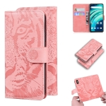 For UMIDIGI A9 Pro Tiger Embossing Pattern Horizontal Flip Leather Case with Holder & Card Slots & Wallet(Pink)