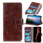 For OPPO Find X3 / X3 Pro Retro Crazy Horse Texture Horizontal Flip Leather Case with Holder & Card Slots & Photo Frame & Wallet(Brown)