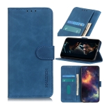 For Sony Xperia Ace II KHAZNEH Retro Texture PU + TPU Horizontal Flip Leather Case with Holder & Card Slots & Wallet(Blue)