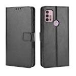 For Motorola Moto G30 Retro Crazy Horse Texture Horizontal Flip Leather Case with Holder & Card Slots & Lanyard(Black)