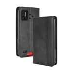 For UMIDIGI Bison Magnetic Buckle Retro Crazy Horse Texture Horizontal Flip Leather Case with Holder & Card Slots & Photo Frame(Black)