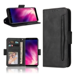 For Rakuten Hand Skin Feel Calf Pattern Horizontal Flip Leather Case with Holder & Card Slots & Photo Frame(Black)