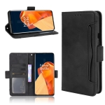 For OnePlus 9 Pro Skin Feel Calf Pattern Horizontal Flip Leather Case with Holder & Card Slots & Photo Frame(Black)