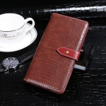 For Blackview A80 Plus idewei Crocodile Texture Horizontal Flip Leather Case with Holder & Card Slots & Wallet(Wine Red)