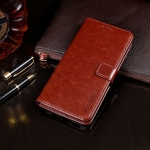 For TCL 10 5G idewei Crazy Horse Texture Horizontal Flip Leather Case with Holder & Card Slots & Wallet(Brown)