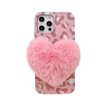 Love Hairball Leopard Wave Soft Case For iPhone 12 Pro(Pink)