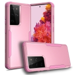 For Samsung Galaxy S21 Ultra 5G TPU + PC Shockproof Protective Case(Pink)