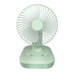 F22 Desktop USB Mute Shaking Head Fan(Green)