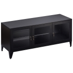 [US Warehouse] Home Living Room Bedroom Metal TV Cabinet with1 Shelf 3 Door, Size: 47.3×13.8×20.3 inch