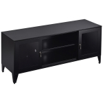 [US Warehouse] Industrial Style Metal TV Cabinet with 2 Doors, Size: 47.3×13.8×20.3 inch