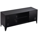 [US Warehouse] Home Living Room Metal TV Cabinet with 2 Storage Cabinets, Size: 47.3×13.8×20.3 inch