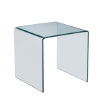 [US Warehouse] Tempered Glass Side End Table, Size: 24.8×19.69×18.90 inch