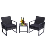 [US Warehouse] 3 Pieces Patio Set Outdoor Wicker Patio Furniture Sets