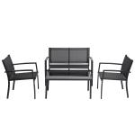 [US Warehouse] 4 Pieces Outdoor Garden Patio Furniture Set