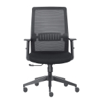 [US Warehouse] Height-adjustable Sponge Office Swivel Chair with Armrests, Size: (102-112) x 64.5 x 55.7cm