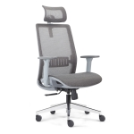 [US Warehouse] Height-adjustable Breathable Mesh Office Swivel Chair with Armrests & Headrest, Size: (115-125) x 66 x 63cm