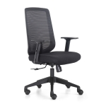 [US Warehouse] Height-adjustable Elastic Mesh Sponge Cushion Office Swivel Chair with Adjustable Armrests, Size: (100-110) x 62 x 58cm