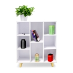 [US Warehouse] Simple Style MDF Board Home Office Multi-compartment Storage Cabinets, Size: 80 x 93 x 29.5cm