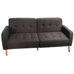 [US Warehouse] Solid Wood Frame Linen Fabric Two-seat Sofa with Double Armrests, Size: 180 x 85 x 84cm